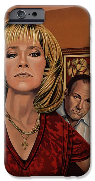 The Sopranos Painting IPhone Case by Paul Meijering