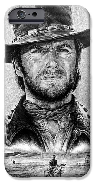 The Stranger Bw 1 Version IPhone Case by Andrew Read