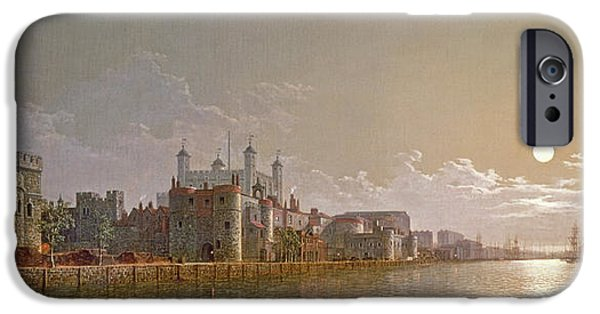 The Thames By Moonlight With Traitors' Gate And The Tower Of London IPhone 6s Case by Henry Pether