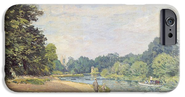 The Thames With Hampton Church IPhone 6s Case by Alfred Sisley