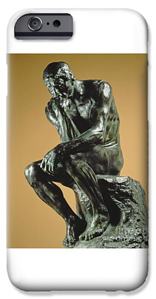 The Thinker IPhone Case by Auguste Rodin