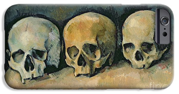 The Three Skulls IPhone Case by Paul Cezanne