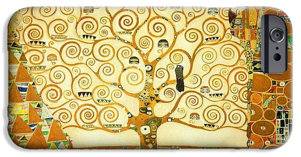 The Tree Of Life IPhone Case by Gustav Klimt