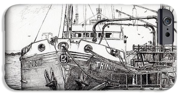 The Trinity  Port Ellen  Isle Of Islay IPhone Case by Vincent Alexander Booth
