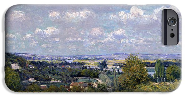 The Valley Of The Seine At Saint Cloud IPhone Case by Alfred Sisley