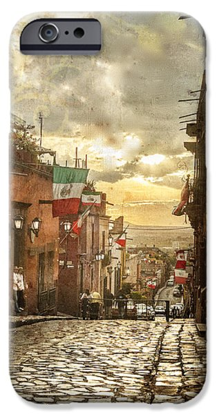 The View Looking Down IPhone Case by Barry Weiss
