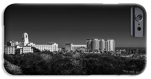 The Vinoy Resort Hotel B/w IPhone Case by Marvin Spates