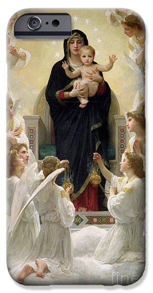 The Virgin With Angels IPhone Case by William-Adolphe Bouguereau