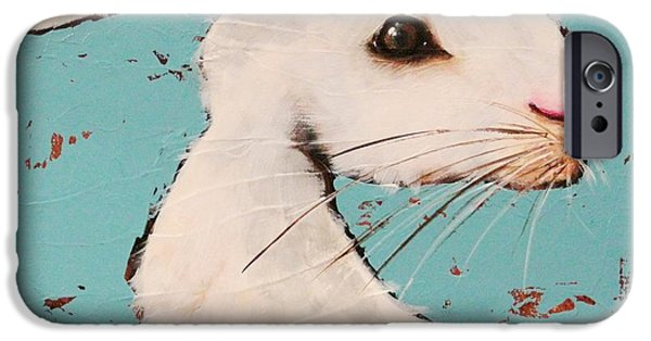 The White Rabbit IPhone Case by Lucia Stewart