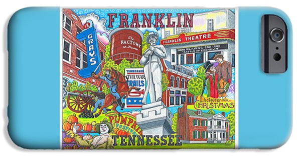The Who, What And Where Of Franklin, Tennessee IPhone Case by Shawn Doughty