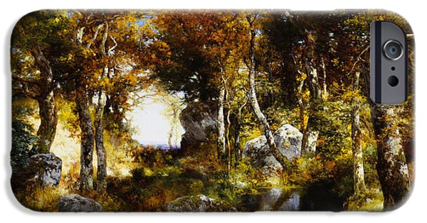 The Woodland Pool IPhone Case by Thomas Moran