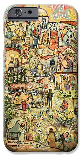 The Works Of Mercy IPhone Case by Jen Norton