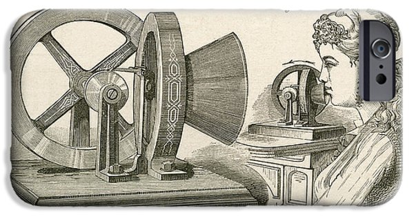 Thomas Edison S Sound Meter. A Machine IPhone Case by Vintage Design Pics
