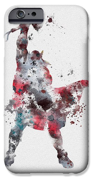 Thor IPhone Case by Rebecca Jenkins