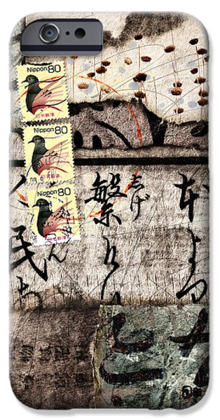 Three Bird Night Collage IPhone Case by Carol Leigh