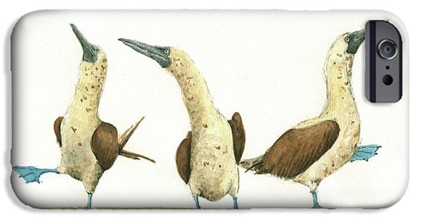 Three Blue Footed Boobies IPhone 6s Case by Juan Bosco