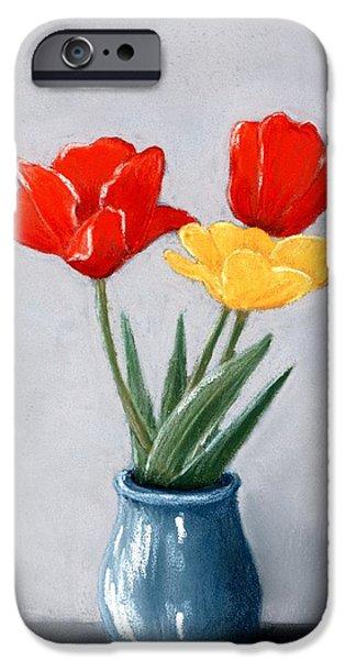 Three Flowers In A Vase IPhone Case by Anastasiya Malakhova