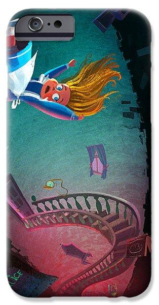 Through The Rabbit Hole IPhone Case by Kristina Vardazaryan