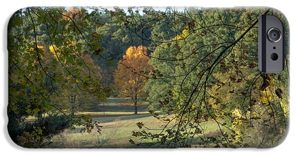 Through The Woods At The Sudbury River Shores, Concord, Massachusetts IPhone Case by Jean-Louis Eck