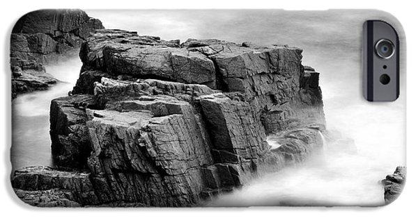 Thunder Along The Acadia Coastline - No 1 IPhone Case by Thomas Schoeller