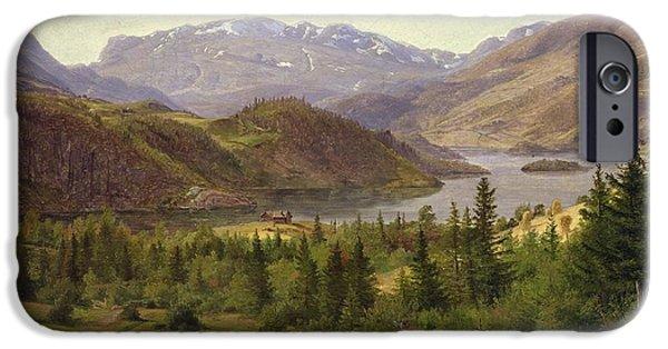 Tile Fjord IPhone Case by Louis Gurlitt