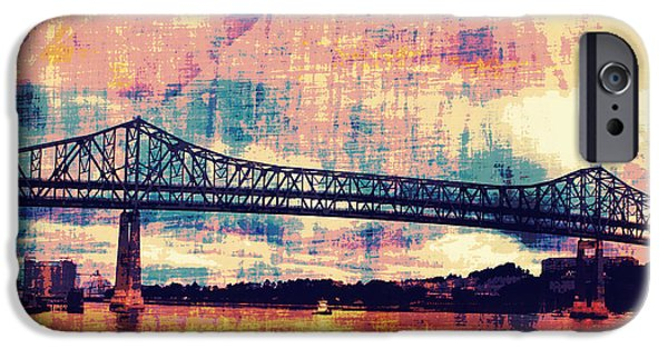 Tobin Bridge Boston Ma IPhone Case by Brandi Fitzgerald