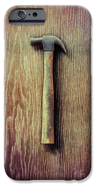 Tools On Wood 53 IPhone Case by YoPedro