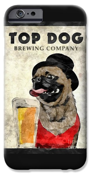 Top Dog Brewing Company IPhone Case by Edward Fielding