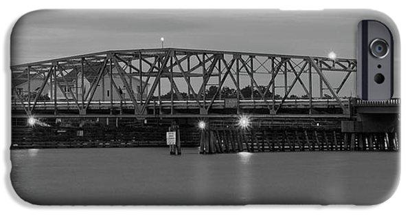 Topsail Island Bridge B  W IPhone Case by Mike McGlothlen