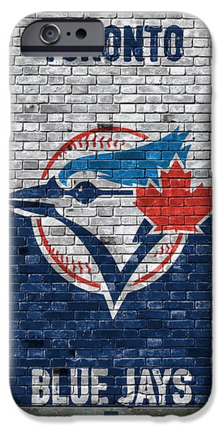 Toronto Blue Jays Brick Wall IPhone Case by Joe Hamilton