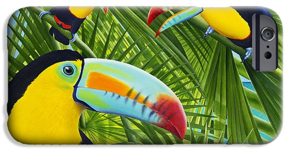 Toucan Threesome IPhone Case by Carolyn Steele
