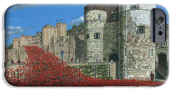 Tower Of London Poppies - Blood Swept Lands And Seas Of Red  IPhone 6s Case by Richard Harpum