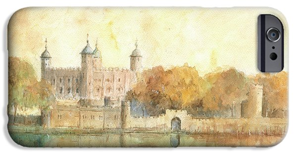 Tower Of London Watercolor IPhone 6s Case by Juan Bosco