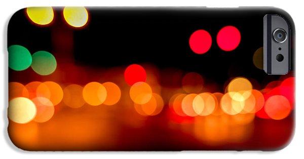 Traffic Lights Number 5 IPhone Case by Steve Gadomski