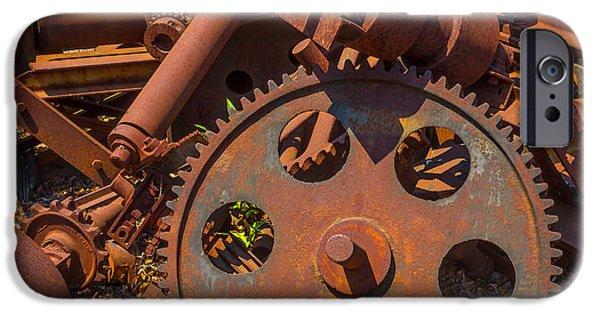 Train Yard Gears IPhone Case by Garry Gay