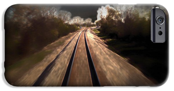 Trains Approaching The City Lights Pa IPhone Case by Thomas Woolworth