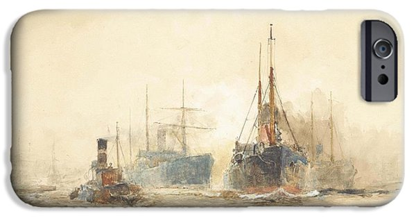 Tramp Steamers In The Thames Estuary IPhone Case by Charles Edward