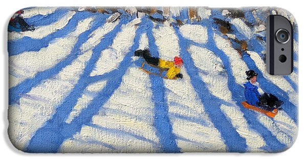 Tree Shadows Morzine IPhone Case by Andrew Macara