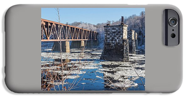 Trestle In Winter IPhone Case by Laurie Breton