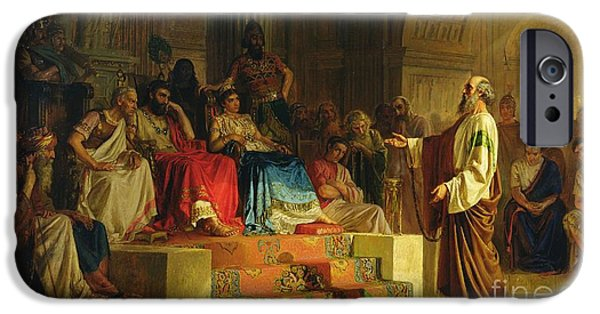 Trial Of The Apostle Paul IPhone Case by Nikolai K Bodarevski