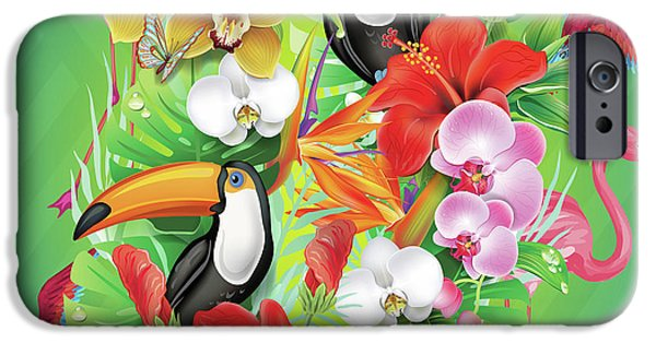 Tropical  Karnaval IPhone Case by Mark Ashkenazi