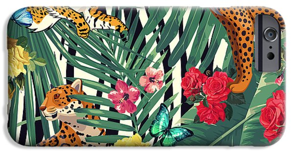 Tropical Wild  IPhone Case by Mark Ashkenazi