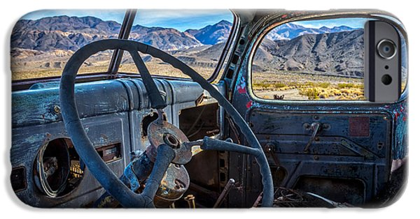 Truck Desert View IPhone Case by Peter Tellone