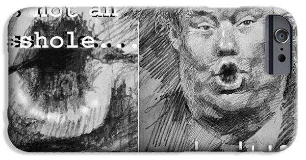 Trump IPhone Case by Ylli Haruni