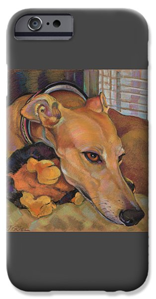 Greyhound IPhone Case by Jane Oriel