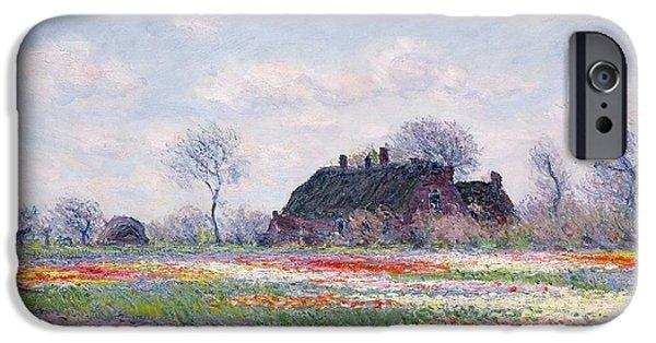 Tulip Fields At Sassenheim IPhone 6s Case by Claude Monet