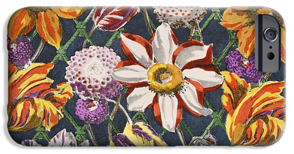 Tulips And Dahlias IPhone Case by Harry Wearne