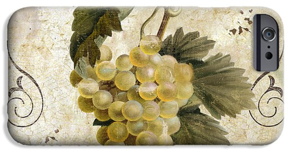 Tuscan Table Blanc Wine IPhone Case by Mindy Sommers