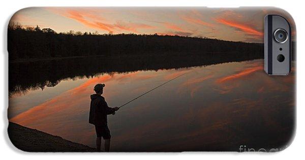 Twilight Fishing Delight IPhone Case by John Stephens