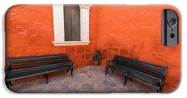 Two Benches In A Monastery IPhone Case by Jess Kraft